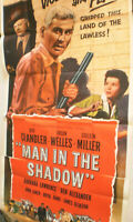XXL  Filmplakat,Plakat,MAN IN THE SHADOW,JEFF CHANDLER,ORSON WELLES,C MILLER#141