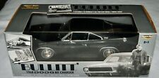 Bullitt 1968 Dodge Charge 1:18 Die Cast Black Car American Muscle Steve McQueen