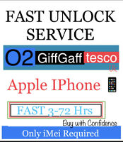 02/GiffGaff/tesco uk✅FAST UNLOCK SERVICE✅iPhone X,XR,8,7,6s,SE,6,5,4,3G✅3-72Hrs✅