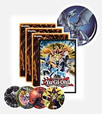 YuGiOh Sealed Gift Pack Bundle! Cards + Badge + Stickers + YuGi Duel Disk Sleeve