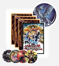 YuGiOh Sealed Gift Pack Bundle! Cards + Badge + Stickers + YuGi Duel Disk Sleeve