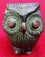 Carved Owl Vintage Bird Brass Metal Statue Figurine Home Decor Paperweight BM257