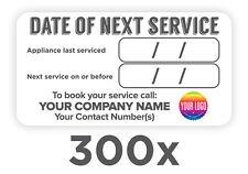 300x Appliance/Boiler Service Reminder Plumber/Boiler/Sticker/Label/Gas FREE DEL