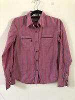 Volcom Pink Blue Stripe Cotton Formal Shirt Size M A1702