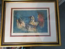 """Lebadang Original Signed Number 287/300 """"Amazon"""" Colored Lithograph COA Framed"""