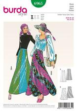 BURDA SEWING PATTERN LADIES VINTAGE 1970S SKIRT  SIZES 10 - 20 6965 A