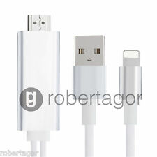 CAVO ADATTATORE VIDEO LIGHTNING USB HDMI HDTV TV PER IPAD IPHONE 6 6S 5 5S