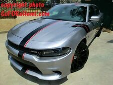 Dodge Charger MOPAR Style Racing Stripe Graphic Decal 3M Gloss Black Red 20 FEET