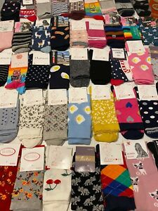 12 pairs luxury women's ladies design coloured socks cotton UK size 4- 8