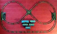 Louis Marx Wind-Up Passenger Train Set with Track and Switches in Good Condition
