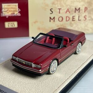 1/43 GLM Stamp Model Cadillac Allante 1993 Maroon Metallic STM93803