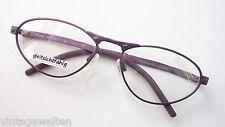 Dunkel-Lila farbige Modellbrille Metallgestell Silhouette frame Fassung size M
