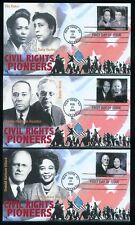 Civil Rights Pioneers set of 6 First Day Covers