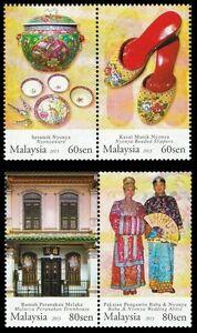 *FREE SHIP Baba Nyonya Heritage Malaysia 2013 Traditional Costume (stamp) MNH
