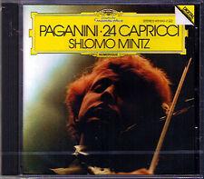 Shlomo Mintz: Paganini 24 capricci for solo violin DG CD NUOVO Caprices capriccio