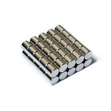"""50pcs 3/16"""" x 3/16"""" Cylinder 5x5mm Neodymium Magnets Strong Super Rare Earth N35"""