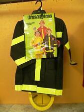 Costume Fireman  Rescue   dress up Play Yellow Hat  black Jacket  5-7 Halloween