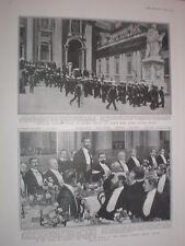Printed photo British Roman Catholic Sailors off to meet Pope Rome Italy 1904