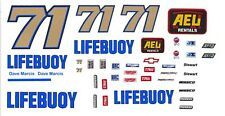 #71 Dave Marcis Lifebouy Chevy 1/32nd Scale Slot Car Decals