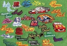 Lot 28 NASCAR Vintage 1980-90s Driver Car Number Facsimile Autograph Patches NEW