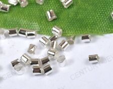 End Spacer Bead 2X2Mm Np2079 500Pcs Silver-Plated Tube Crimp