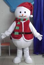 Xmas Snowman Costume Mascot Halloween Cartoon Party Cosplay Christmas Outfit NEW