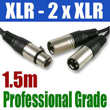 XLR SPLITTER 1.5M | 1 x FEMALE to 2 x MALE CABLE | 257