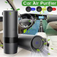 AUGIENB Mini Auto Luftreiniger USB Lufterfrischer 4-Gang Aktivkohle HEPA-Filter