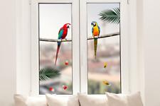 Hochwertige Fenstersticker Papagei Pärchen Tiere Fensterbilder Fensterfolie Deko