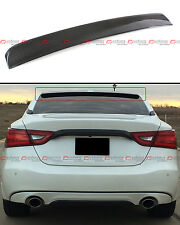 FOR 2016-17 NISSAN MAXIMA 8TH GEN VIP CARBON FIBER REAR ROOF WINDOW SPOILER WING