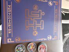 yo-kai medals and folder