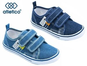 KIDS BABY Boys canvas shoes trainers sneakers 8-12 UK Leather insole PUMPS