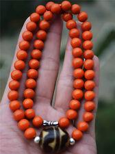 "agate mala prayer beads bracelet ""tiger tooth"" dzi bead necklace carnelian tibet"