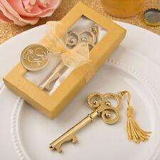 50 Skeleton Key Bottle Opener Gold Vintage Wedding Favor Shower Party Event Lot