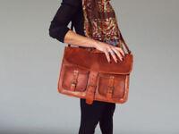 Men's Leather Messenger Bag Handmade office Briefcase Bag Satchel Laptop attache