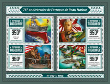 Togo 2016 MNH Pearl Harbor ATTACK 75 ° anniv 4V M / S Seconda Guerra mondiale Aerei da Combattimento FRANCOBOLLI