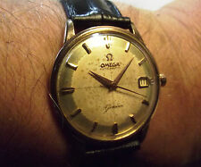 OMEGA GENEVE '60 PIE PAN 2 TONE DIAL GOLD INDEX - AUTOMATIC DATE - ROLLED GOLD