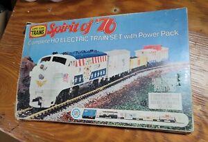 Life Like HO Scale Electric Train & Railroad Spirit of '76 - In Original Box