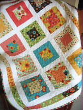 Patchwork QUILT PATTERN Layer Cake or Fat Quarters, Quick and easy beginner