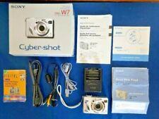 SONY Cyber-Shot DSC-W7 Digital Camera 7.2MP - Silver w/Box/Cords/Memory Stick