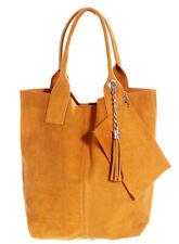 Shopper óptica bandolera con bolsillo interior en cadena con lana, senfgelb