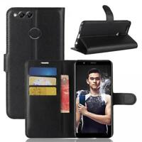 Huawei Honor 7X Custodia a Portafoglio Protettiva Cover wallet Case Nero