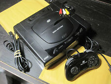 Complete Sega Saturn System Black Console w/ Official Controller, New Battery