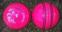 1x PINK Cougar 4 Piece TEST CROWN Match Quality Cricket Ball - 156g - Oz Stock