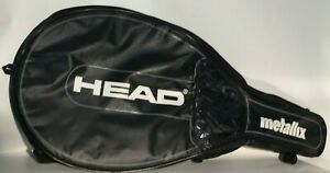 Head Metallix Brand Black White Tennis Raquet Bag Cover with Shoulder Strap
