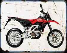Aprilia SXV 550 08 A4 metal sign moto Vintage Aged