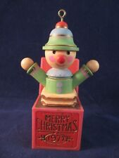 Hallmark 1977 Yesteryear' Tree Trimmer Jack In The Box Ornament No Box