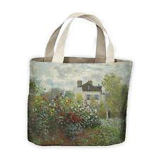 Claude Monet El Jardín en Argenteuil acarreo Bolso de compras para la vida