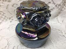 black carnival glass Decanter Bottle topper top stopper perfume / alcohol cobalt