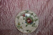 PIATTO fondo maiolica alla rosa Pesaro Molaroni cm. 21,5 (10) V3 plate  ^